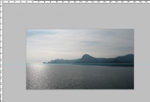 исправить горизонт в фотошопе