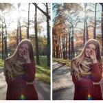 Осенний пресет для портрета