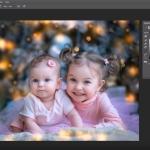 Обработка детской фотографии в новогоднем стиле