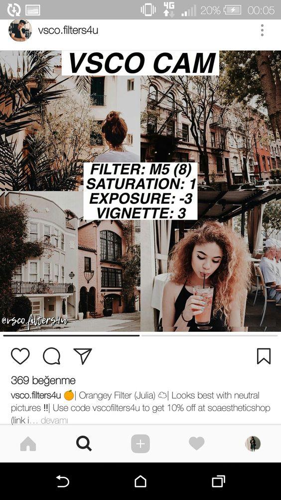 VSCO фильтры