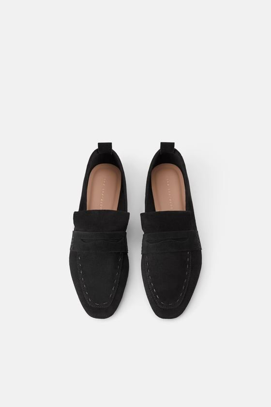 SPLIT LEATHER MOCCASIN - View all-WOMAN-SHOES   ZARA United States