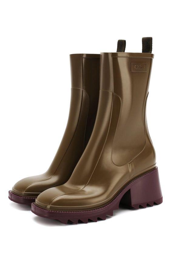 Женские хаки резиновые ботинки betty CHLOÉ, арт. CHC19W239G8 по цене 28300 руб. купить в интернет-магазине ЦУМ. Экспресс доставка, подарочная упаковка.