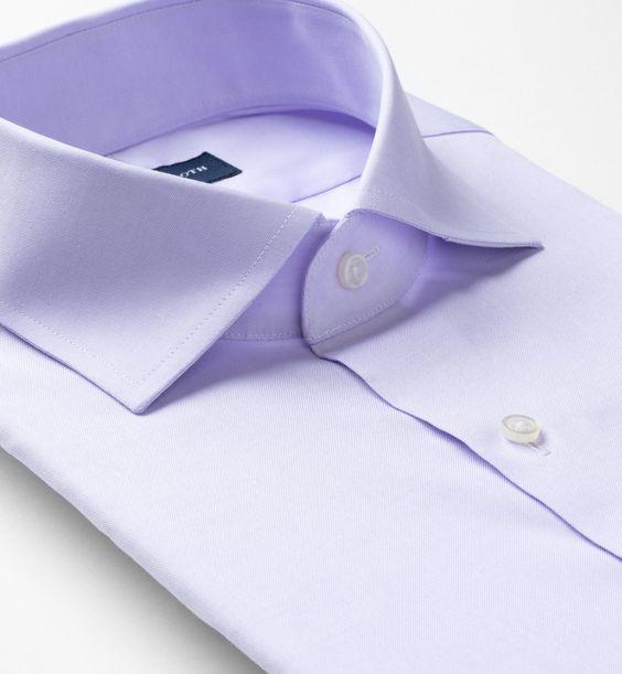 Non-Iron Supima Lavender Pinpoint Men's Custom Dress Shirt