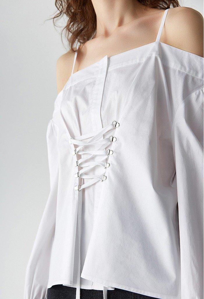 Блузка со шнуровкой | s22store