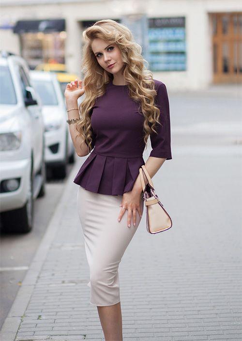 Блузка с баской с чем носить и как правильно подобрать Полезные советы и рекомендации
