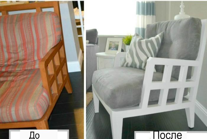 Обновление старого дивана.