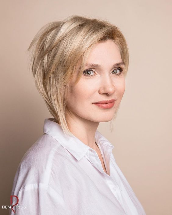 2019 Most Popular Short Hair Design #blondehair, #shorthair, #hairstyles