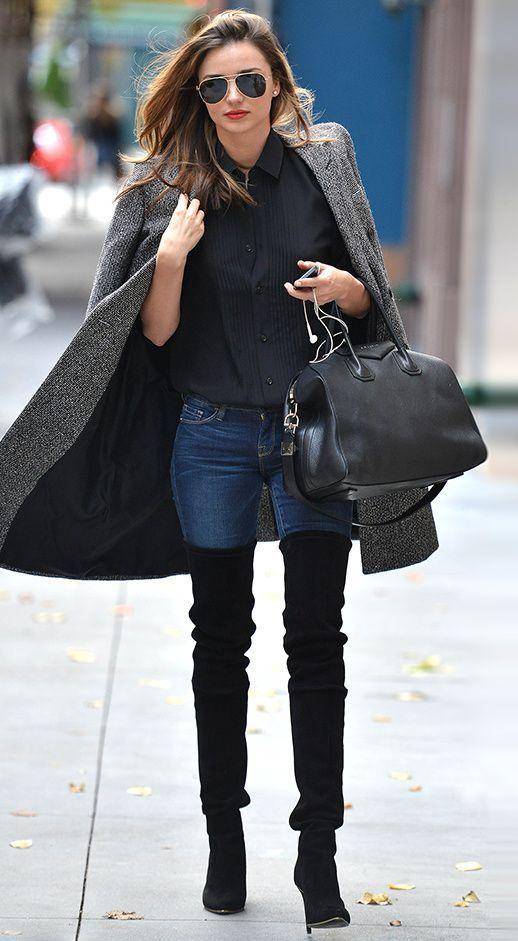 С какой одеждой носить ботфорты? Учимся сочетать вещи стильно!