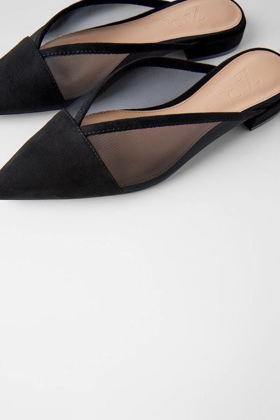 Zara Flat Mesh Mules - We've found your new go-to work flat.
