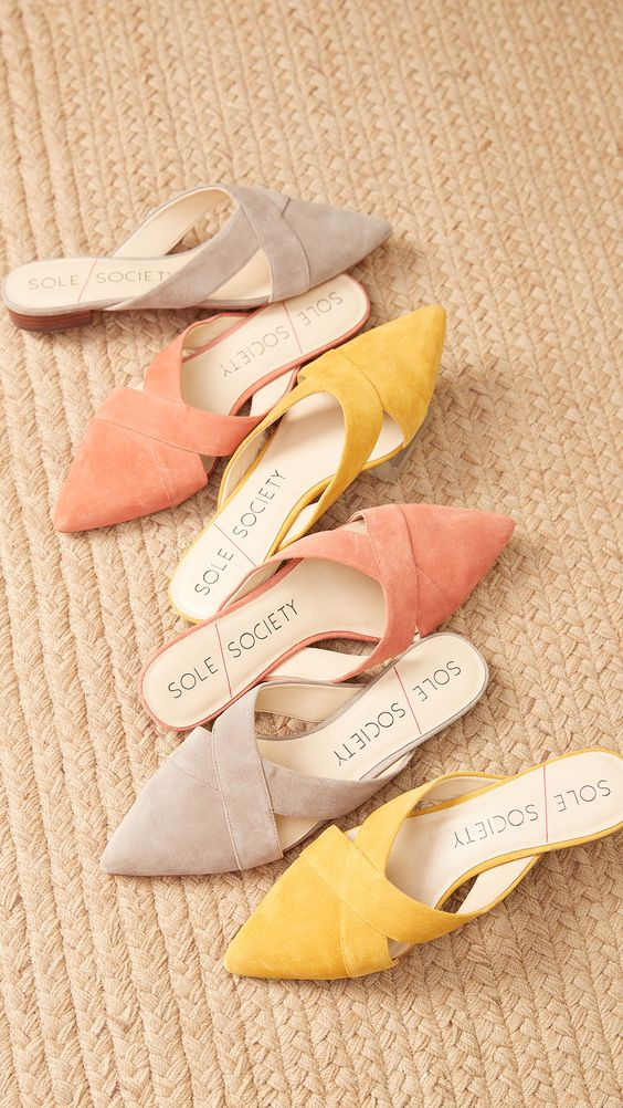 Slide into this seasons top trendy summer flats. With pretty pops of color that make any summer outfit stand out.