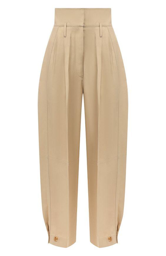 Женские бежевые брюки из вискозы GIVENCHY — купить за 72150 руб. в интернет-магазине ЦУМ, арт. BW50CN11VS