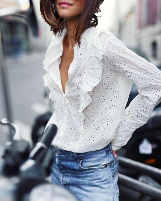 30 белых блузок из шитья / Тенденции / ВТОРАЯ УЛИЦА