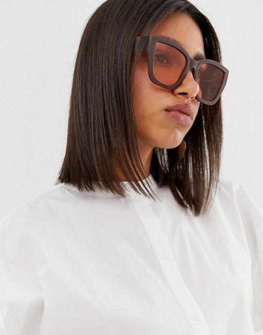 Большие солнцезащитные очки в квадратной оправе в стиле 70-х ASOS DESIGN   ASOS
