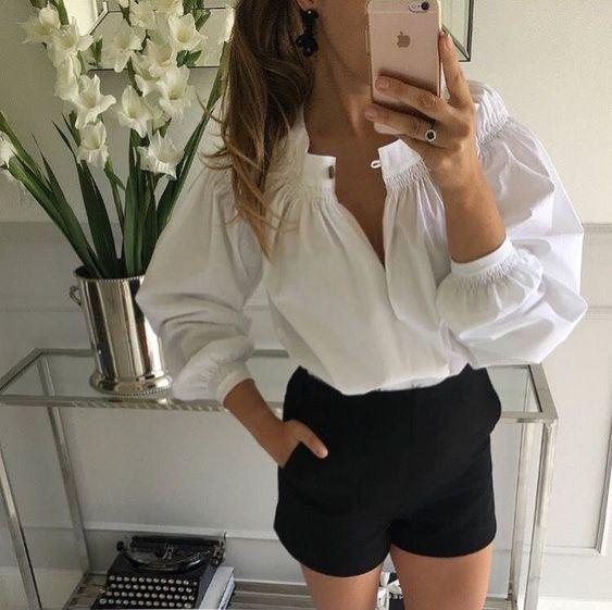 белая блуза сложного покроя с объемными рукавами   BEAUTY&woman   Яндекс Дзен