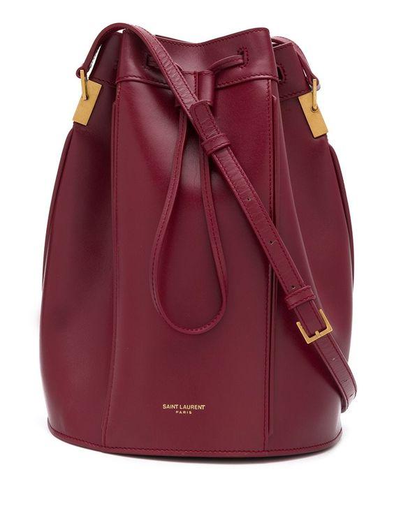 Saint Laurent Talitha medium bucket bag - Red