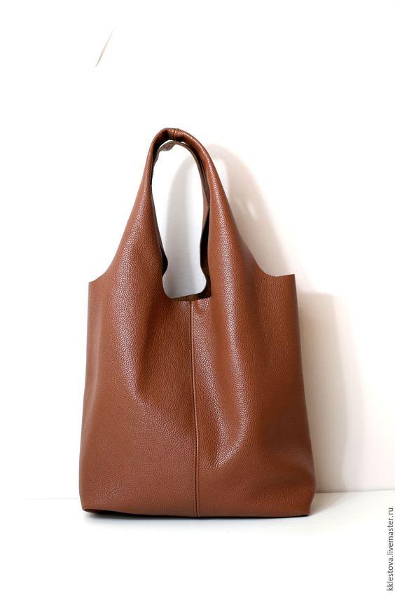 Купить Сумка - Мешок - Пакет - среднего размера с внешним карманом - рыжий, сумка мешок, шоппер