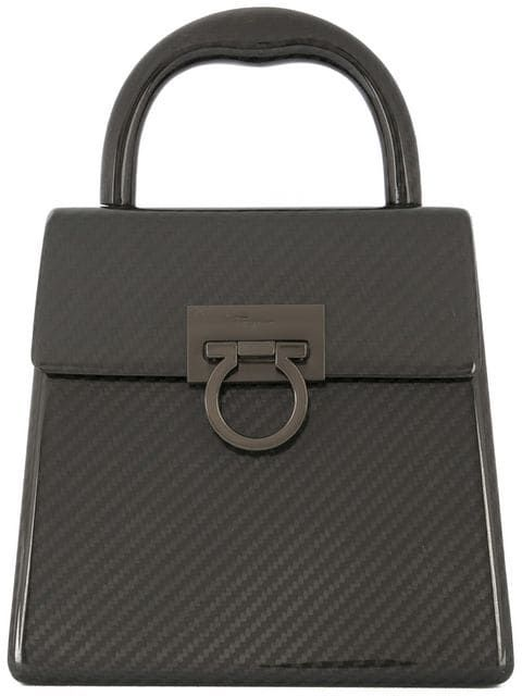 Купить Salvatore Ferragamo Vintage плетенная сумка с покрытием и застежкой с логотипом