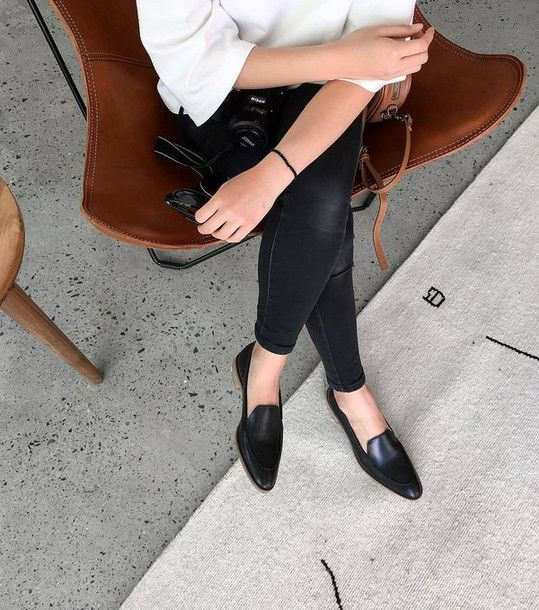 Shoes: fair trade loafers black loafers black black flats flats denim jeans black jeans skinny jeans