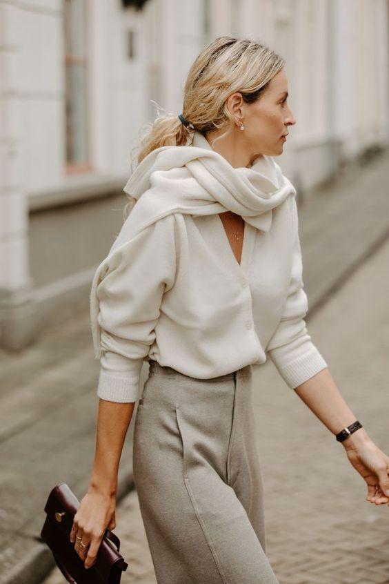 7 оригинальных способов носить свитер, как это делают топовые модницы - Lena View — LiveJournal