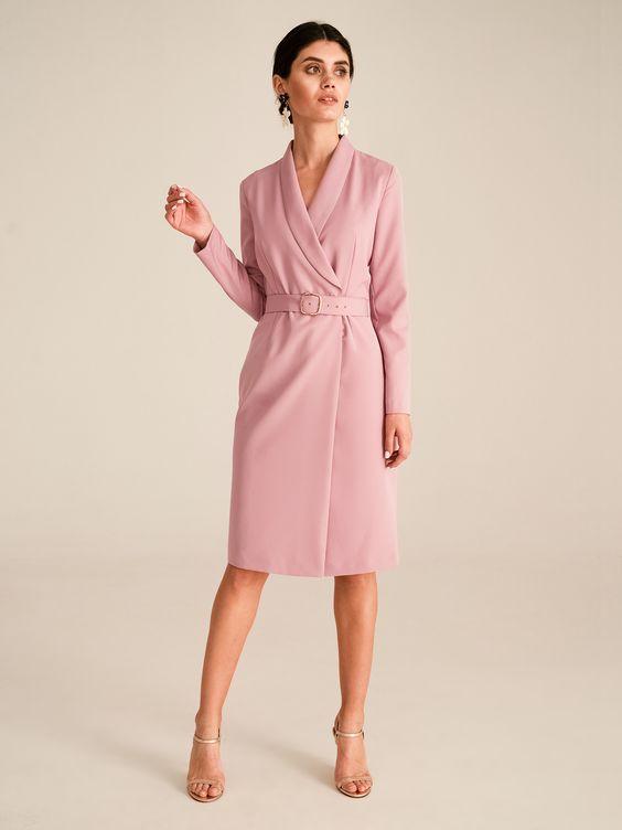 Платье на запах с поясом купить в SELFMADE