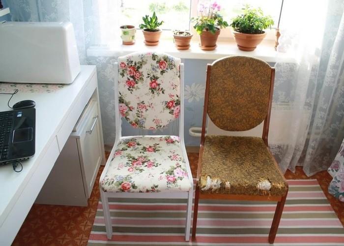 Перетяжка стульев. \ Фото: happymodern.ru.