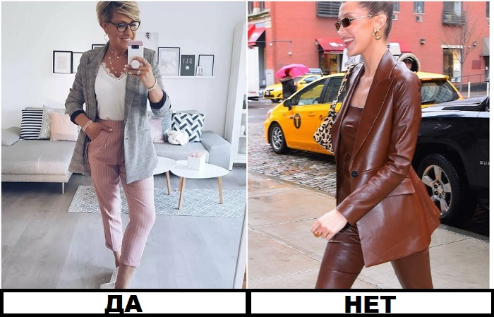 Кожаный костюм идет далеко не всем, в отличие от традиционных брюк и пиджака