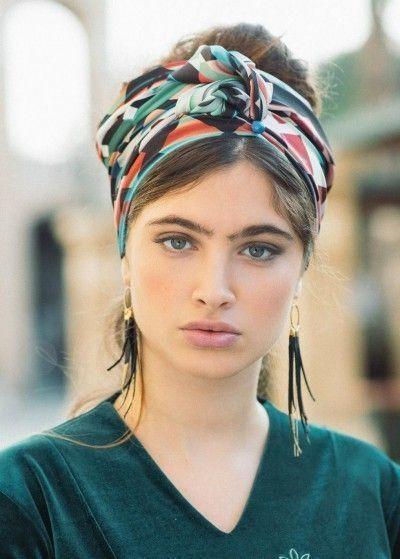 42 jolies coiffes bandeaux turban 2019 #bandeaux #coiffes #coiffure #coiffures #jolies #turban