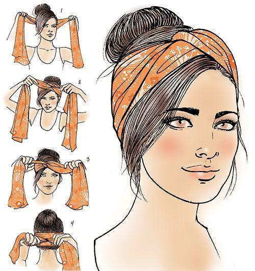 Turban-Anleitung für das Latina-Magazin - Nagel Kunst, #das #für #Kunst #LatinaMagazin #nägel #summerhairstylescurly #TurbanAnleitung