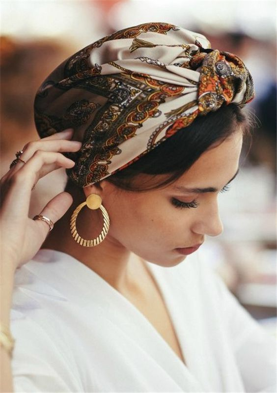 28 Stunning Ways to Style Your Hairstyles with Scarf #Accessories