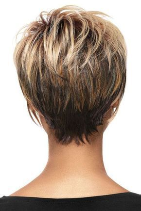 Women Blonde Ombre Inclined Bang Fluffy Short Straight European American Synthetic Wig - One Size