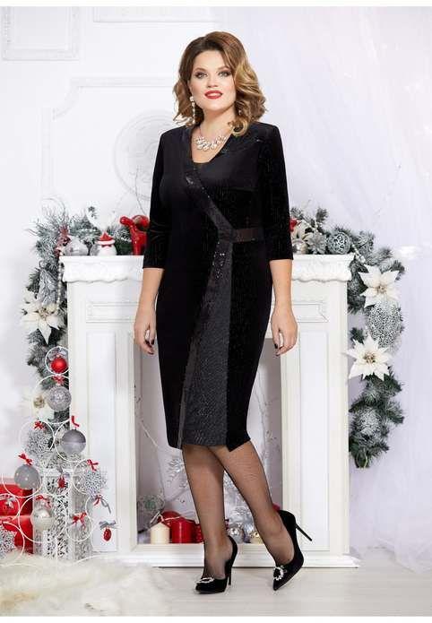 Новогодняя коллекция платьев для полных красавиц белорусского бренда Mira Fashion 2020
