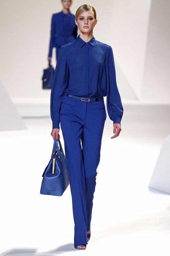 Цвет 2020 года: Восхитительная подборка образов в синем цвете | Новости моды