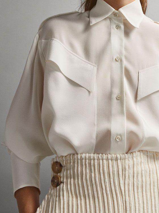 Женские рубашки и блузки   Massimo Dutti Осень Зима 2018
