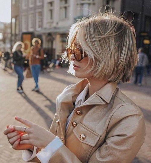 #Frauen #für #Kurzhaarschnitte #Neueste Latest Short Haircuts for Women 2019 Modern-Blonde-Bob-Hair Neueste Kurzhaarschnitte für Damen 2019