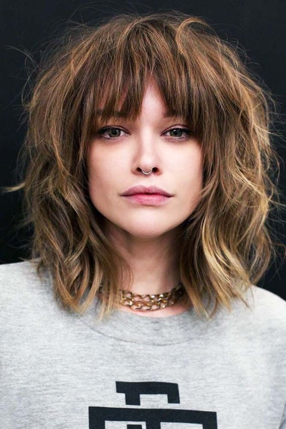 40 Wispy Bangs Ideas To Try For A Fresh Take On Your Style #hairstyles #With_Bangs_medium