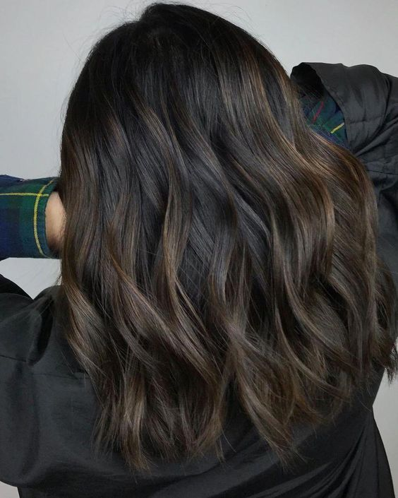 Dark Brown Hair with Barely There Highlights #darkbrownhair