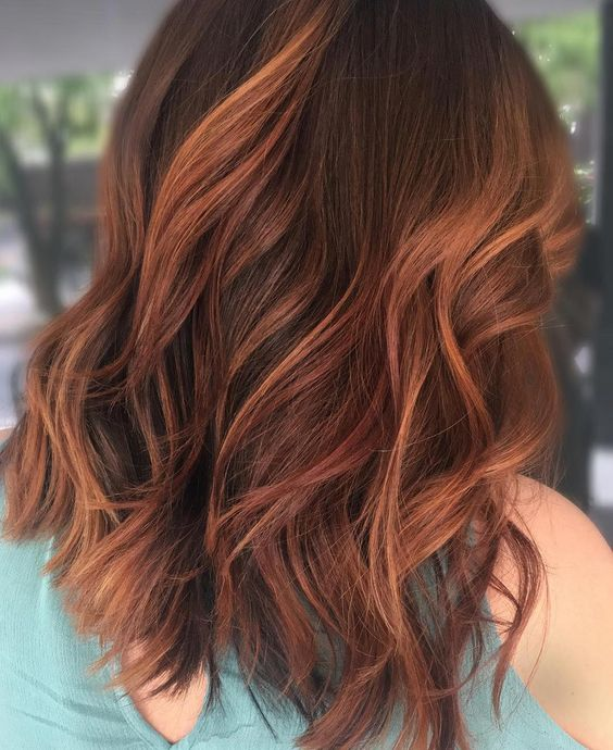 """✨BALTIMORE HAIRSTYLIST✨ on Instagram: """"A Way Back Wednesday today ?! I'm in Asheville and this hair color looks like all the leaves ? here I just had to repost it ?!"""" #redhaircolor"""