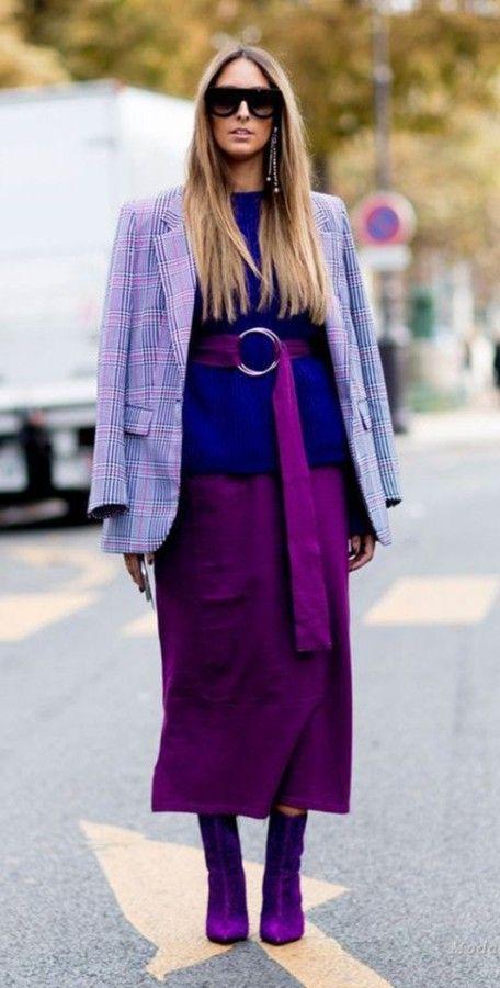 Шикарный фиолетовый цвет в стильных образах — Модно / Nemodno