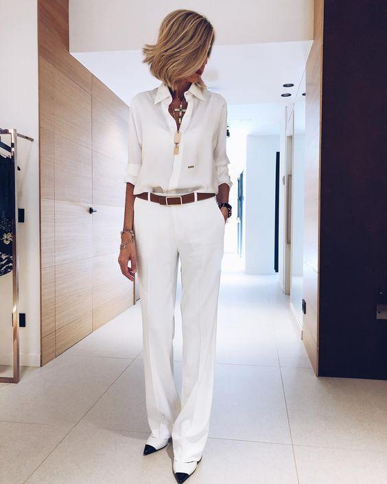 Белая рубашка: 9 идей от топовых fashion-блогеров за 40 | Новости моды