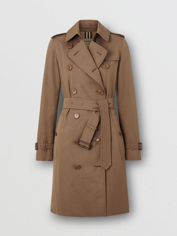 Tropical Gabardine Trench Coat in Taupe - Women   Burberry United States