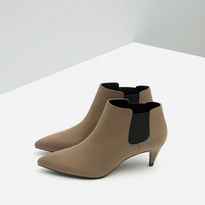 Image 2 of MID HEEL ANKLE BOOT from Zara