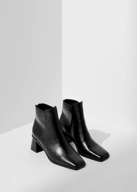 Кожаные ботинки на каблуке - Обувь - Женская | Mango МАНГО Россия (Российская Федерация)