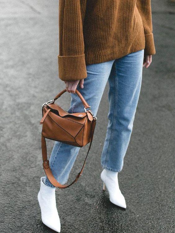 Лучшие образы ноября - подборка. Белые ботильоны, джинсы 2020, тренды зима 2020. #джинсы2020 #тренды2020