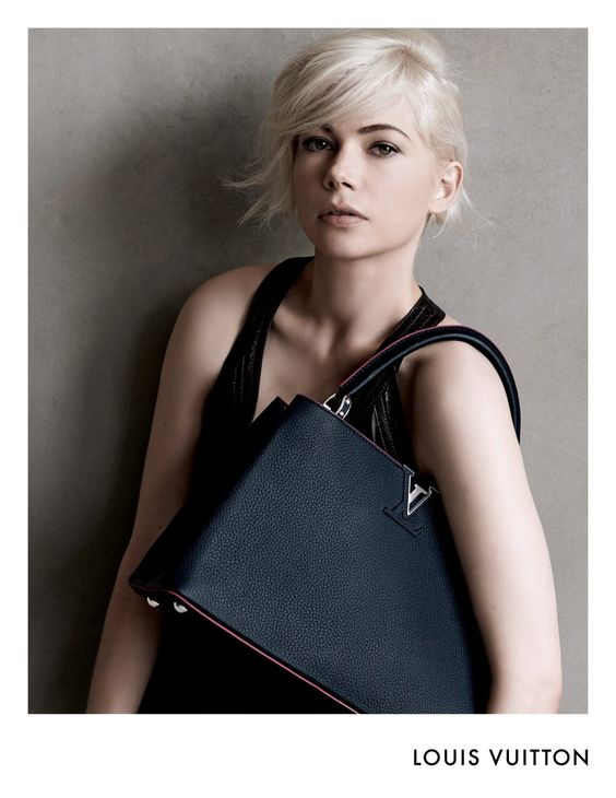 Michelle Williams…makeup by Angela Levin, hair by Odile Gilbert