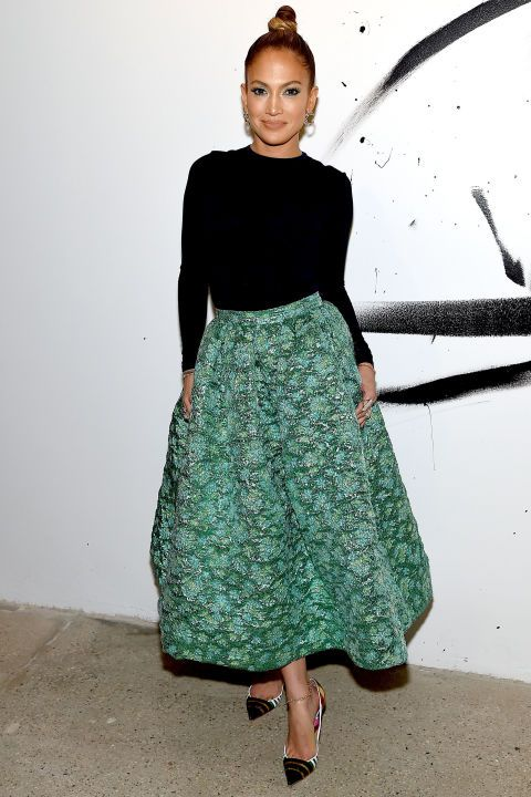 Jennifer Lopez attends AOL Build Speaker Series in New York on Jan. 21, 2015.