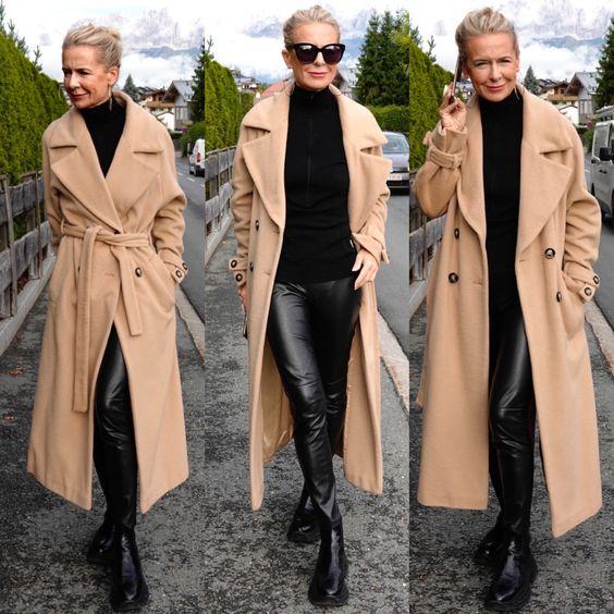 Nein, demonstriert uns Bibi Horst mit diesem Outfit und dem traumhaften Wollmantel von The Mercer N.Y.