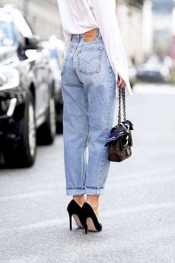 c чем носить мамины джинсы