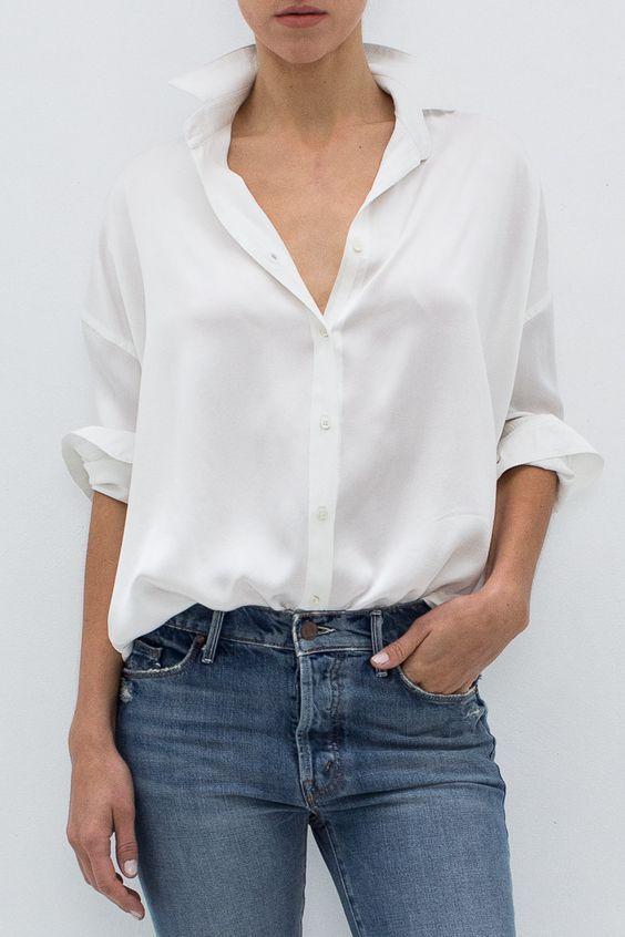 Идеальная Шелковая Белая Рубашка: как ее найти и как потом носить