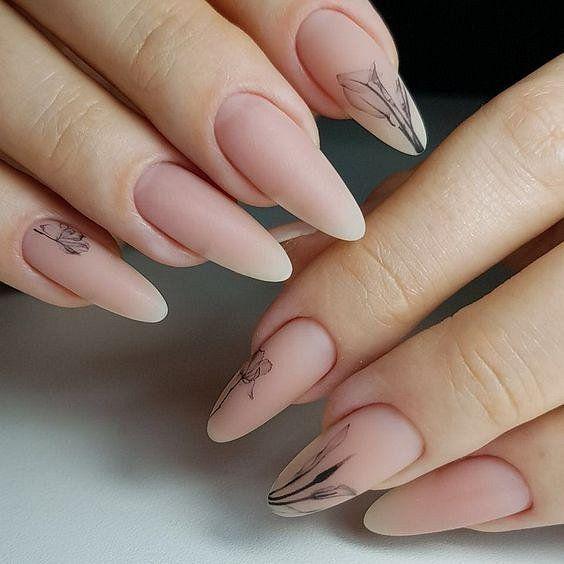 Матовый маникюр 2020: тенденции дизайна ногтей фото №31