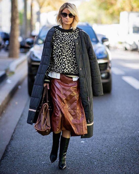 Кожаная юбка 2019: дерзкие идеи для смелых и стильных | Новости моды